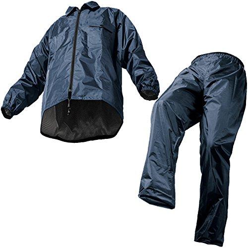 マック レインスーツ ネイビー EL 裾上げ調整可能 防水 ...