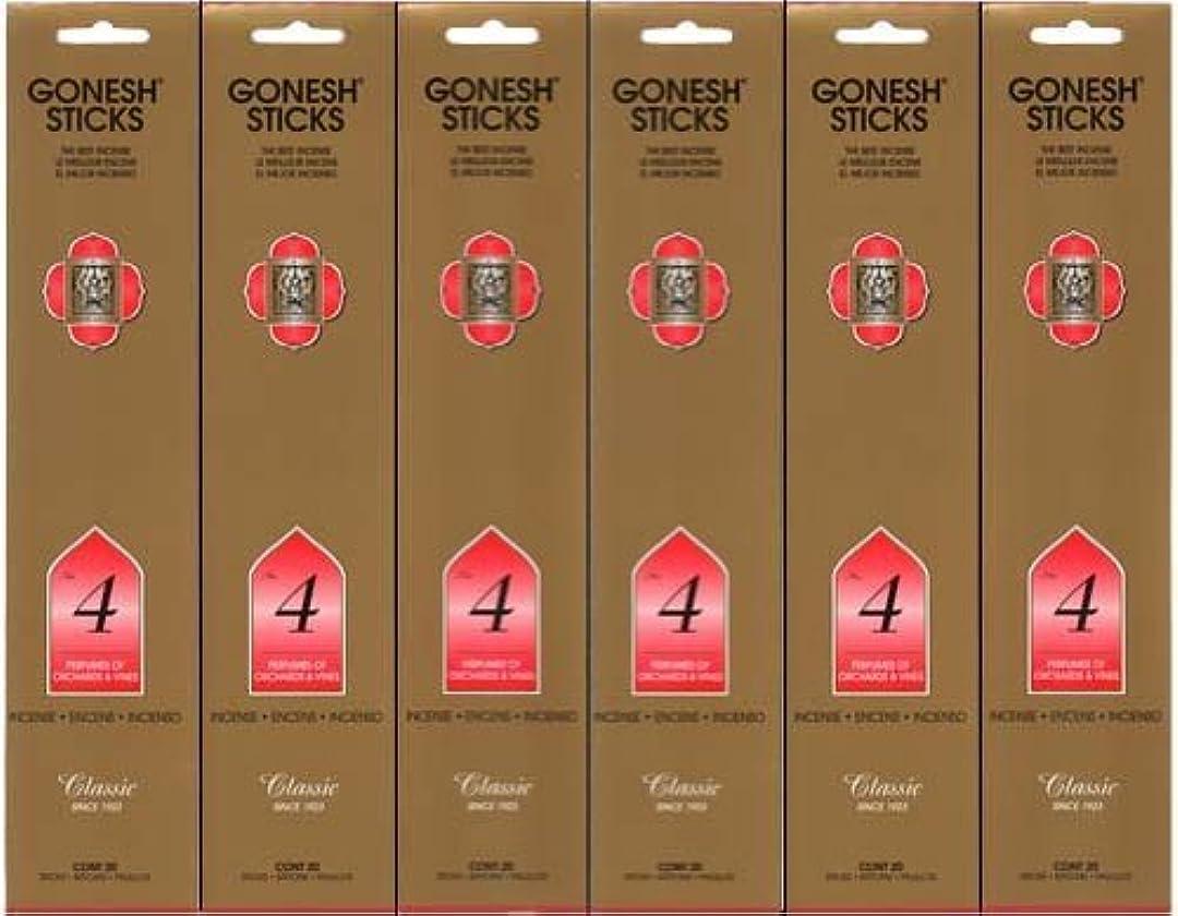 GONESH インセンス No.4 スティック 20本入り X 6パック (120本)