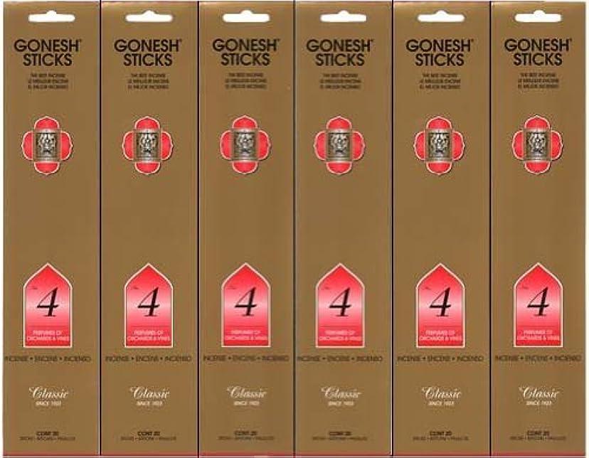 バイナリ伝導率韓国GONESH インセンス No.4 スティック 20本入り X 6パック (120本)