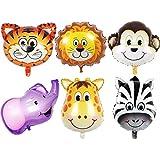 ジャングルサファリ動物のテーマのための6個の22インチの巨大動物園動物バルーンキット誕生日パーティの装飾