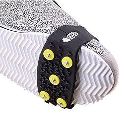steman--net 5スタッドアンチスリップグリップ 2PCSパッケージ 雪道・ロッククライミング・山登り 靴の滑り止めパーツ 転倒防止