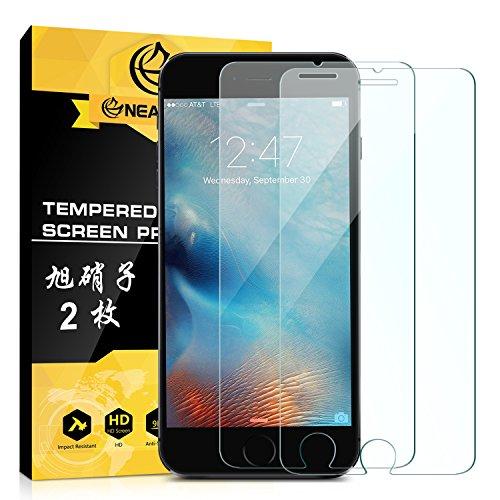 NEARPOW 【2枚入り】 iPhone 6S / 6 専用液晶強化保護ガラスフィルム 3D To...