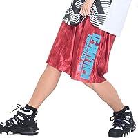 le-Rhythm(リアリズム) バスケットパンツ キッズ レディース メンズ ユニセックス ハーフパンツ(サイズ4)? デニム レッド