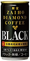 財宝 有機栽培 ダイヤモンド コーヒー ブラック 無糖 缶 185g×30本