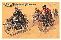 マリブ、カリフォルニア–Mulholland Race–Five Motorcyclesヴィンテージポスター(アーティスト: Ham、Geo ) C。1928 16 x 24 Giclee Print LANT-73559-16x24