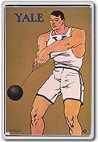 Yale, Hammer Thrower - Vintage Sports Athletics Vintage Fridge Magnet - ?????????