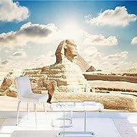 Lcymt カスタム3D写真壁紙クラシックエジプトスフィンクス大壁画リビングルーム寝室オフィステレビ背景壁紙ホームデコレーション-350X250Cm