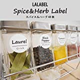 Lalabel 詰め替え容器用 スパイス・ハーブラベル48枚 CLEAR(透明)