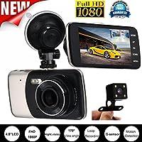 smtsmt 20172x車1080p 2.2フルHD DVR車カメラダッシュカム