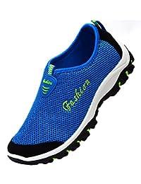 lisylineメンズメッシュ通気性ランニングスポーツテニスアウトドア靴Slip Onアクア水靴