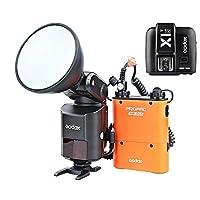 Godox Witstro ad360ii-n TTL 2.4Gワイヤレスシステムフラッシュスピードライト+ pb960バッテリーパックオレンジ+ x1Nワイヤレス送信機for Nikon DSLRカメラ( ad360ii-nオレンジ+ x1t-n )