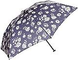 (ムーンバット)MOONBAT シュプレコリン 軽量 UV軽減加工 婦人おりたたみミニ傘 花柄 21-402-08440-02 74-50 ネイビー 50cm