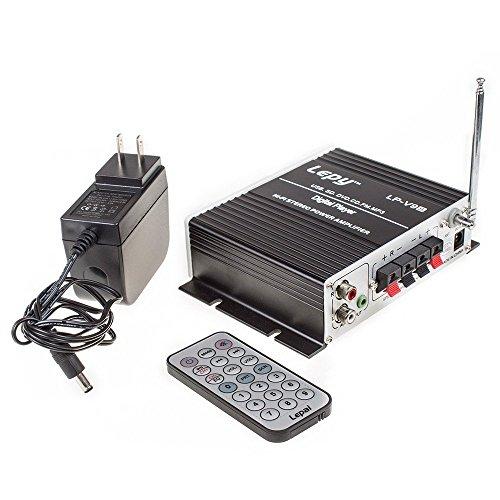Lepy LP-V9S Hi-Fi ステレオパワーデジタルアンプ USB SD DVD CD FM MP3+リモート