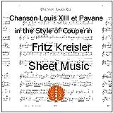 楽譜 クライスラー ルイ13世の歌とパヴァーヌ(ルイ・クープラン風) ヴァイオリン譜 ピアノ伴奏譜