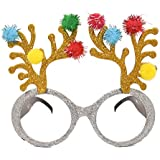 BESTOYARD クリスマストナカイメガネXmas眼鏡フレームフォト小道具クリスマスパーティーの好意