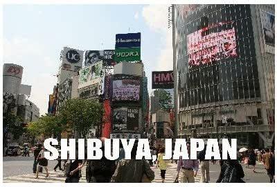 ポストカード文字入り「SHIBUYA, JAPAN」渋谷スクランブル交差点のフォトカード