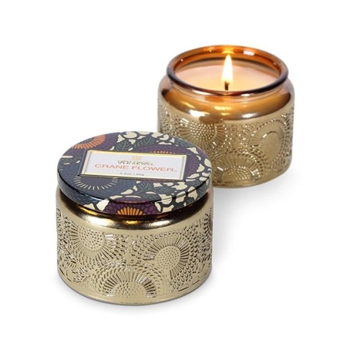 透過性誠実稼ぐVoluspa ボルスパ ジャポニカ グラスジャーキャンドル S クレーンフラワー JAPONICA Glass jar candle CRANE FLOWER