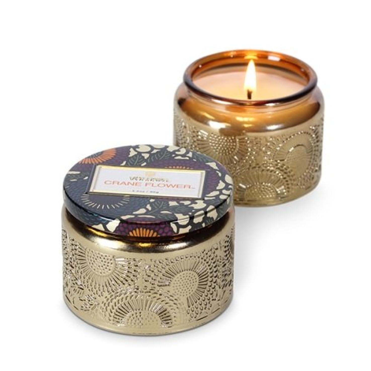 上にデータム万歳Voluspa ボルスパ ジャポニカ グラスジャーキャンドル S クレーンフラワー JAPONICA Glass jar candle CRANE FLOWER