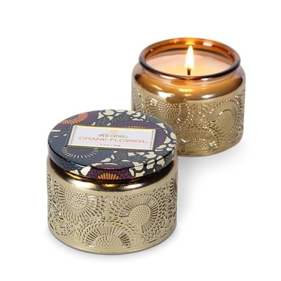 病気の緊張宗教Voluspa ボルスパ ジャポニカ グラスジャーキャンドル S クレーンフラワー JAPONICA Glass jar candle CRANE FLOWER