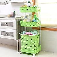 YI LU Deng JU- プラスチック家庭用おもちゃの洗濯バスケット、バスルームは衣類バスケット、汚れた服の収納バスケット、汚れた服のバスケット (色 : Green)