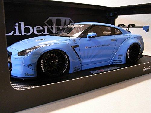 イグニッションモデル 1/18 LB WORKS GT-R (R35) ブルー IG0429