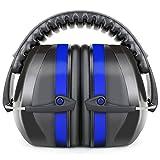 Fnova防音用イヤーマフ プロフェッショナルNRR34dB 聴覚保護 ヘッドバンド式 フリーサイズ 大人&子供用 ブルー【並行輸入品】