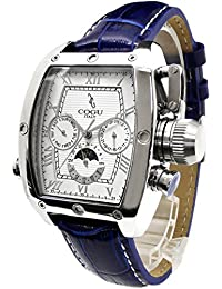 [コグ]COGU 腕時計 サン&ムーン搭載革ベルト自動巻腕時計 C62-WBL メンズ [並行輸入品]