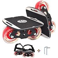 【LangBo正規品】6代目 ドリフトスケート 専用工具とベルト付き ミニ スケボー 分体式 ス ケートボード アルミ合金 一体成型したスチールフレーム ダンパーゴム付 滑り止め フリー ラインスケート ローラースケート エスボードのようなトリックも可能