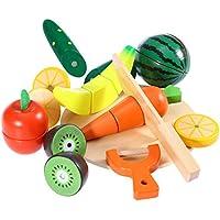 ROSENICE 木製 おままごと フルーツ 野菜 子供の教育玩具