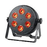 COLOR'SAGE スポットライト ディスコライト ステージライト 6LED RGBW 70W DMX512 パーライト 照明投影 音声起動 多色変化 ストロボ 誕生日/ディスコ/カラオケ/パーティー/ステージ/KTV/バー 舞台照明用ライト(RGBW 6LED)