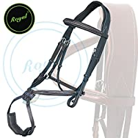 Royal Fully Adjustable Fancy Mexican Bridle with Stylish Broad Head Piece & PP Rubber Grip Reins./ Vegetable Tanned Leather./ Stainless Steel Buckles.