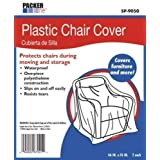 AllBoxes Direct SP-9050 Plastic Chair Cover Protection for All Your Moving & Storage (Pack of 2)