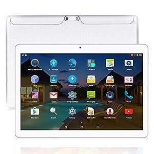 YUNTAB(JP) 10.1 インチ タブレットPC K107 tablet pc アンドロイド5.1 クアッドコア 1GB+16GB デュアルSIMスロット 3G通話MIDPad IPS液晶 WI-FI、bluetooth 4.0、GPS搭載 日本語対応 (白)