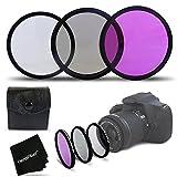 3 Piece High Definition 72mm Filter SET with Protective Case for Nikon AF-S DX NIKKOR 18-200mm f/3.5-5.6G ED VR II, Nikon AF-S..