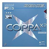 DONIC(ドニック) 卓球 コッパ X2 裏ソフトラバー レッド 2.0 AL053