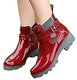 パタゴニア レディース ブーツ (iWEC)レディース 靴 レインブーツ ショートブーツ ローヒール 長靴 エナメル デッキシューズ 雨の日もオシャレに 晴雨兼用 滑り止め 防水