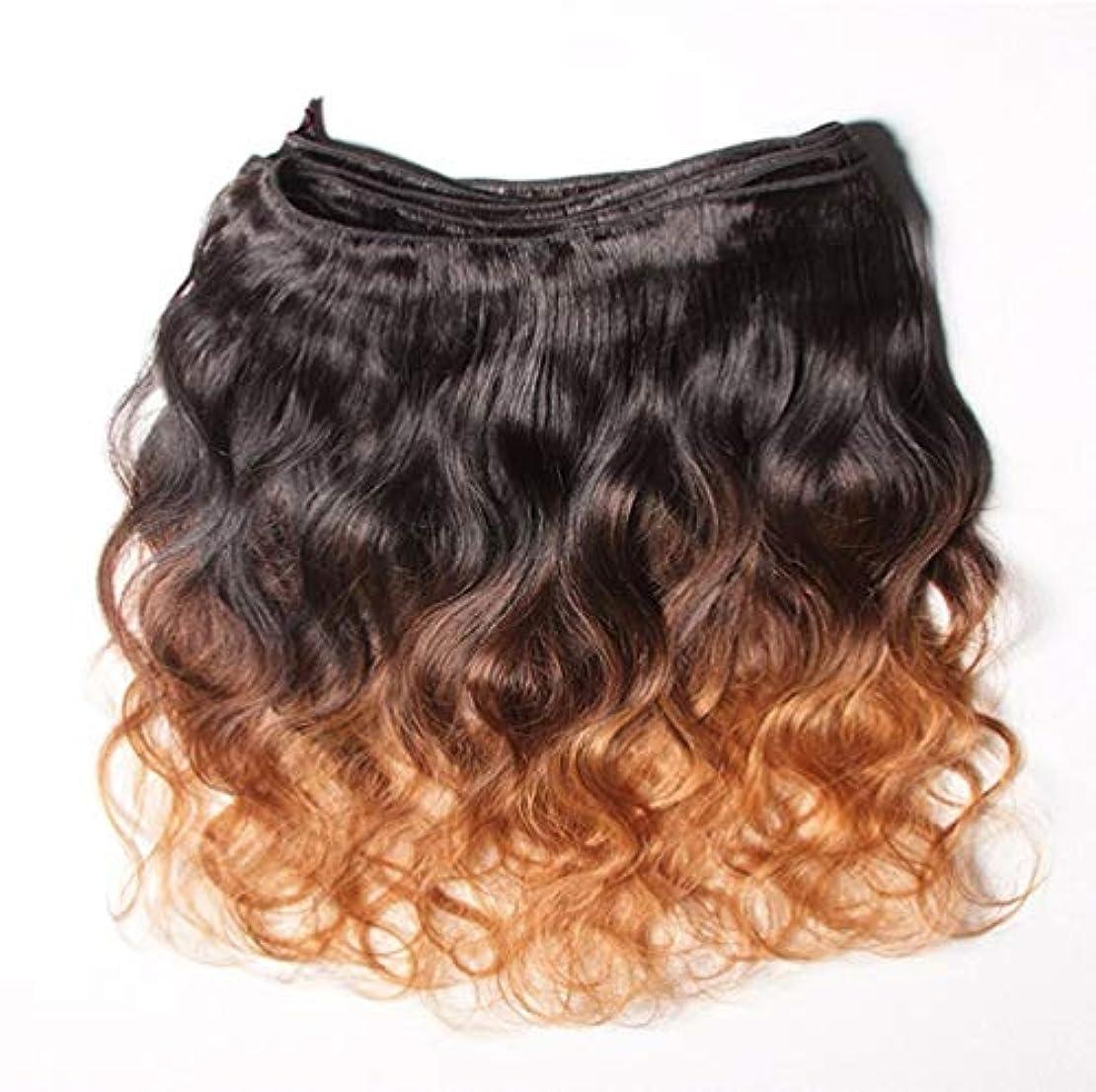 チャンピオンシップ通り温室10Aグレードの髪織りブラジルペルー人毛バージン髪変態カーリーオンブル人間の髪織り(3バンドル)