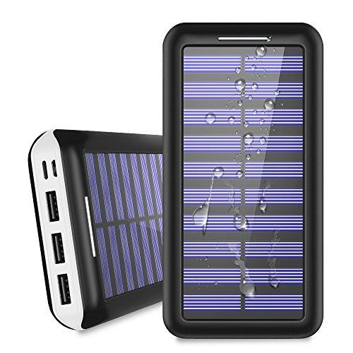 KEDRON モバイルバッテリー 25000mAh ソーラー...