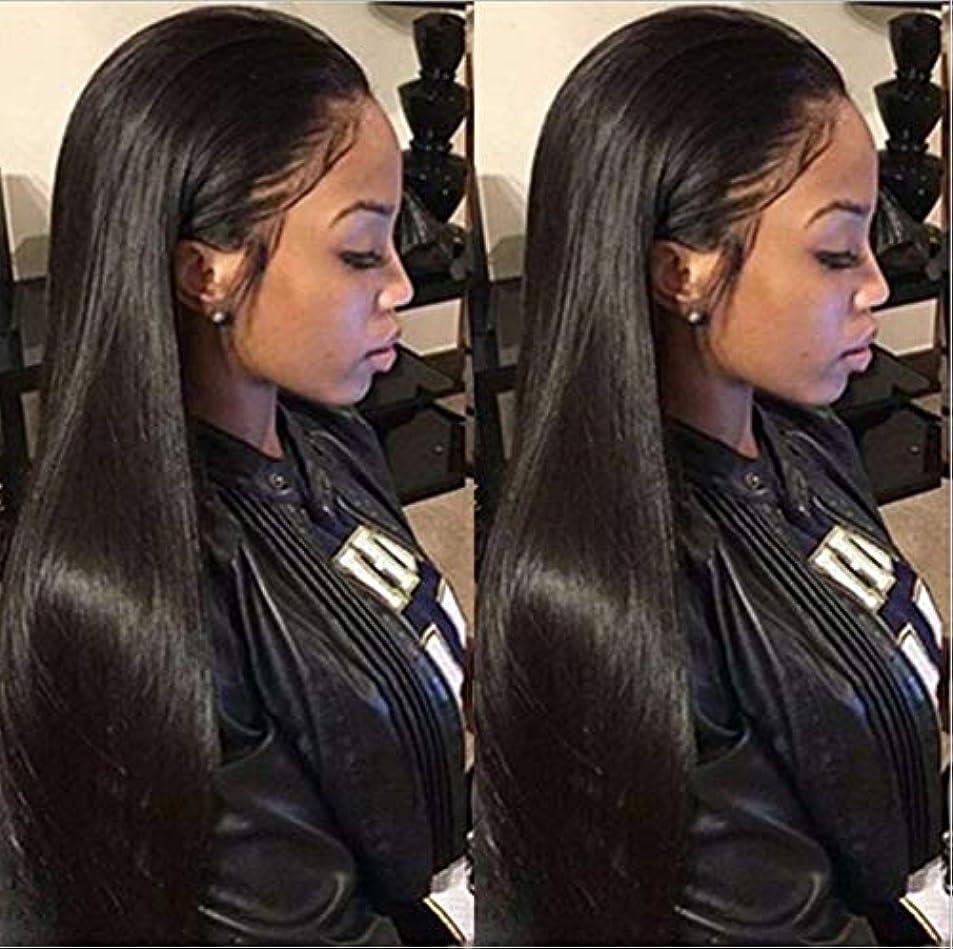 クレジット評価可能殺人女性150%密度レースフロントウィッグ未処理バージンヘアブラジルレミー人間の髪ストレートヘアレースかつらベビーヘア