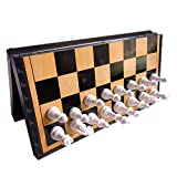 国際チェス POTOJP マグネットチェス 磁性 国際将棋 折り畳み式 携帯便利 教育チェスセット 黑白駒 収納ケース型 携帯型
