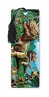Dimension 9 3D Lenticular Bookmark with Tassel, Tyrannosaurus Rex in Jungle (LBM032)