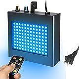ディスコライト SOLMORE ストロボ ステージライト 舞台照明 ミニレーザーステージ照明 108 RGB LED 音声制御 RFリモコン付き パーティー DJ ステージ ディスコ クラブ バー カラオケ AC 90-240V アメリカ規格