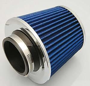 選べる 2色 強力 エア フィルター メッシュ タイプ キノコ 型 汎用 エア クリーナー オリジナル 作業手袋 セット (ブルー )