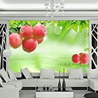 Ljunj 自己粘着壁紙フレッシュフルーツ大壁画テレビの背景壁画リビングルームホームデコレーションステッカー用壁-350X250Cm