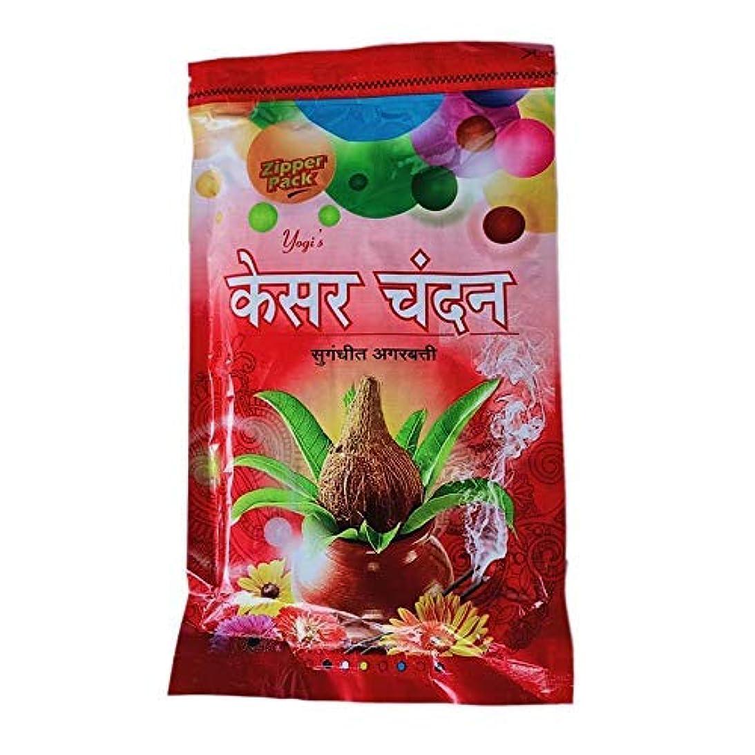 面積フロントカナダYOGI Keshar Chandan Incense Sticks/Agarbatti Zipper Pack (180 GM) Pack of 3