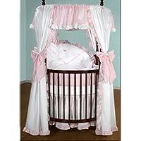 Baby Doll Bedding Darling Pique Round Crib Bedding Set, Pink by BabyDoll Bedding
