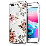 【Spigen】 iPhone8 Plus ケース / iPhone7 Plus ケース, [ TPU ケース ] [ Qi 充電 対応 ] [ 超薄型 超軽量 ] リキッド・クリスタル アイフォン 8 / 7 プラス 用 カバー (iPhone8 Plus / iPhone7 Plus, アクアレール・ローズ)