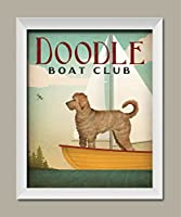 Adorable Doodle Boat Club印刷by Ryan Fowler One 11x14in White Framed Print