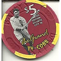 $ 5 The Grand Ty CobbカジノチップAtlantic City Obsolete