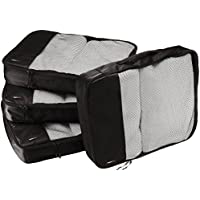AmazonBasics Packing Cubes - Large (4-Piece Set), Black